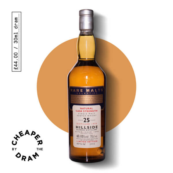 Cheaper By The Dram No.18, Hillside 25 year old single malt scotch whisky, bottle.jpg