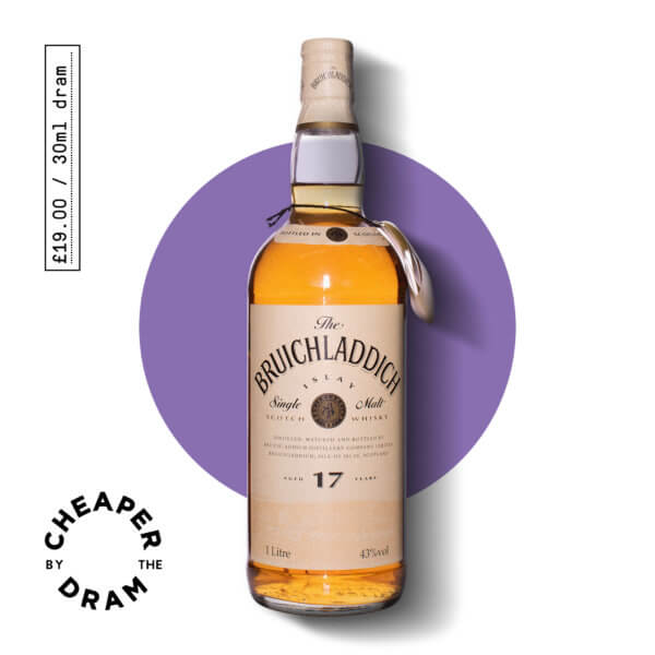Cheaper By The Dram No.19, Bruichladdich 17 year old single malt scotch whisky, bottle