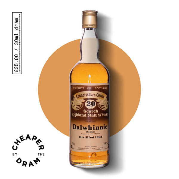 Cheaper By The Dram No.21, Connoisseurs Choice Dalwhinnie 20 year old single malt scotch whisky, bottle.jpg