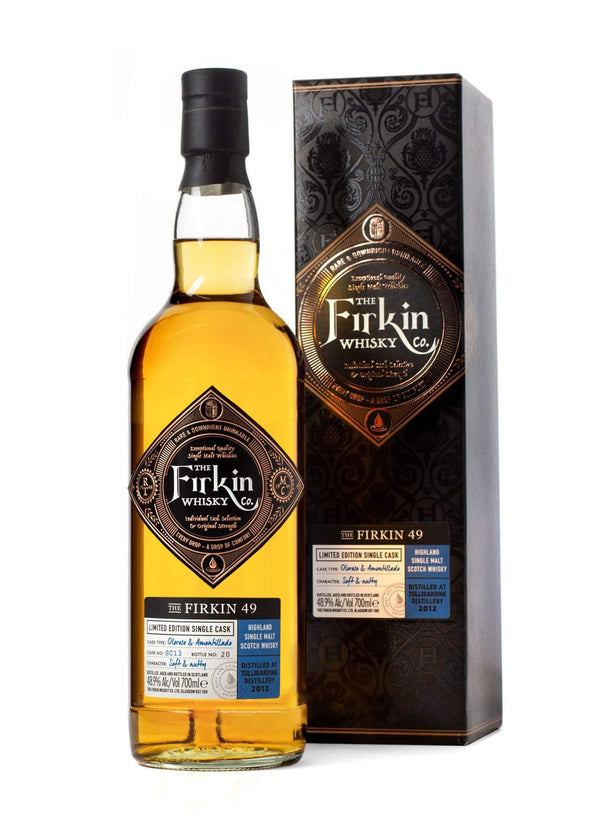 Firkin 49 Tullibardine Whisky in Amontillado & Oloroso Casks Bottle and box