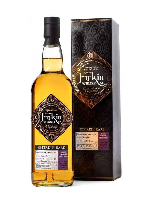 Firkin Rare Aultmore Whisky in Tawny Port Cask Bottle and Box