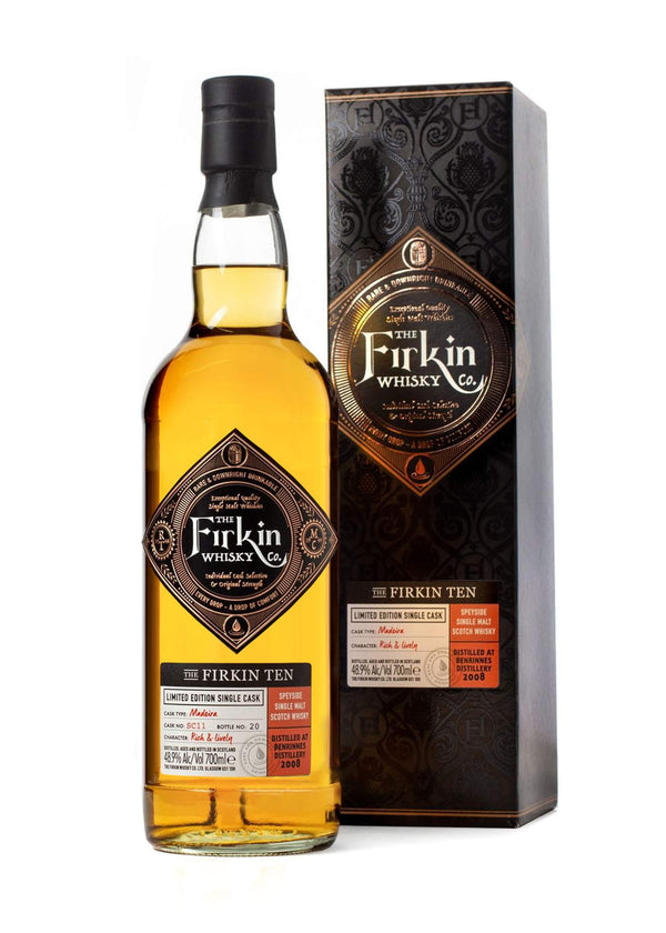 Firkin Ten Benrinnes Whisky in Madeira Cask Bottle and Box
