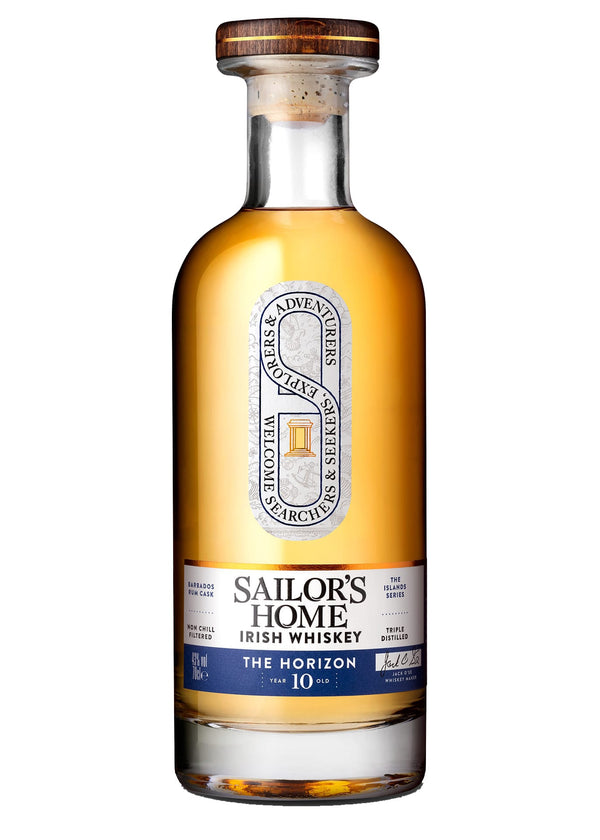 Irish Whiskey from Sailor's Home 10 year Old Triple Distilled Bottle
