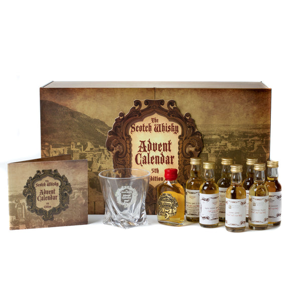 Premium Whisky Advent Calendar from Secret Spirits with whisky bottles