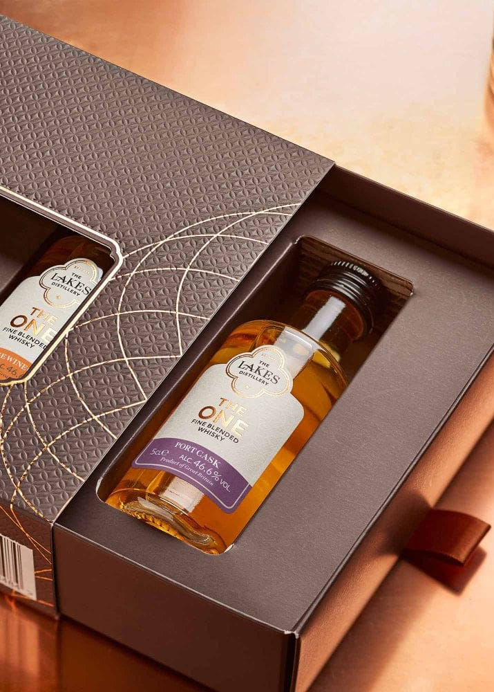 The Lakes Distillery: Whisky Collection 3 x 5cl Gift Pack Open Box
