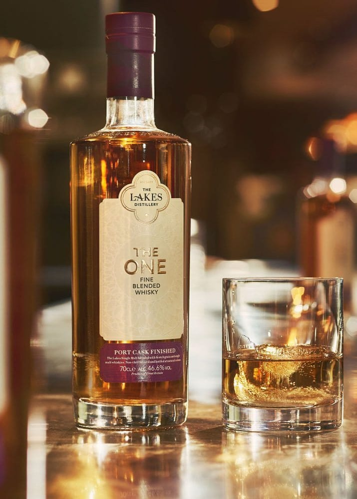 The Lakes Distillery: The One Port Cask Finished Whisky At Bar