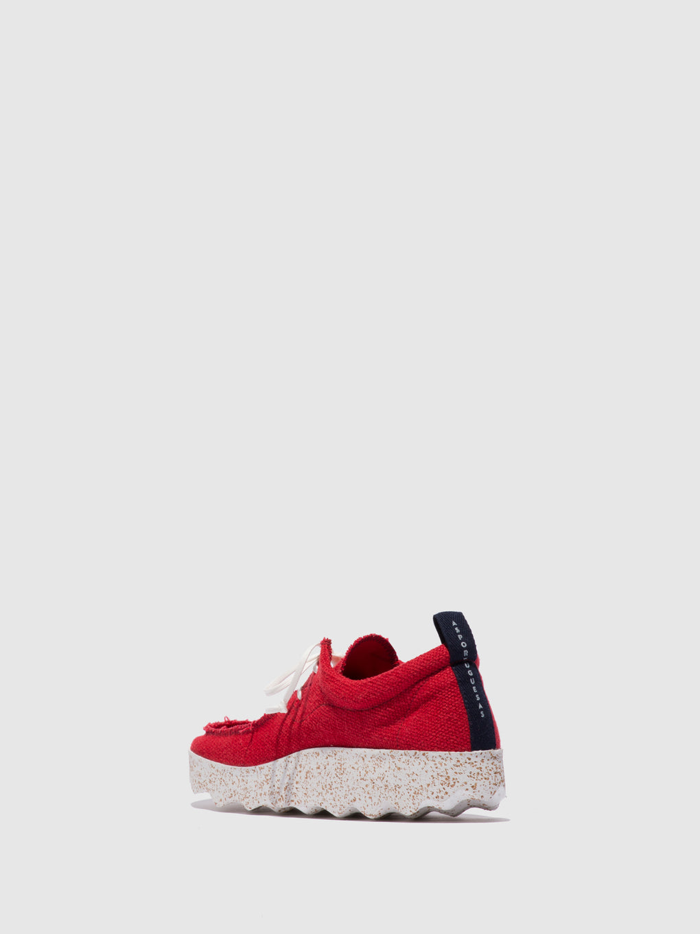 Lace-up Trainers CHAT_L Red Recyled Linen