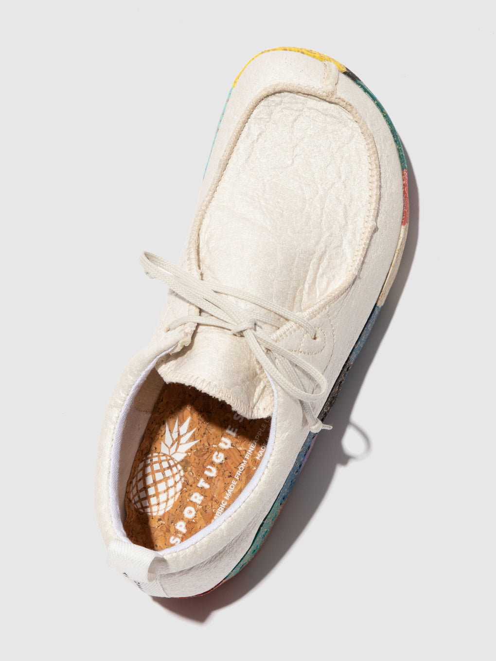 Lace-up Trainers CHAT_L Natural Pinatex