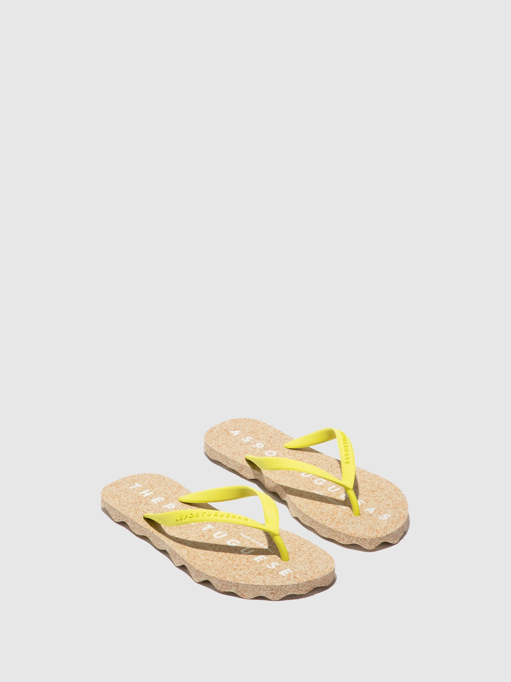 Beach Flip-Flops BASE Yellow Rubber Strap