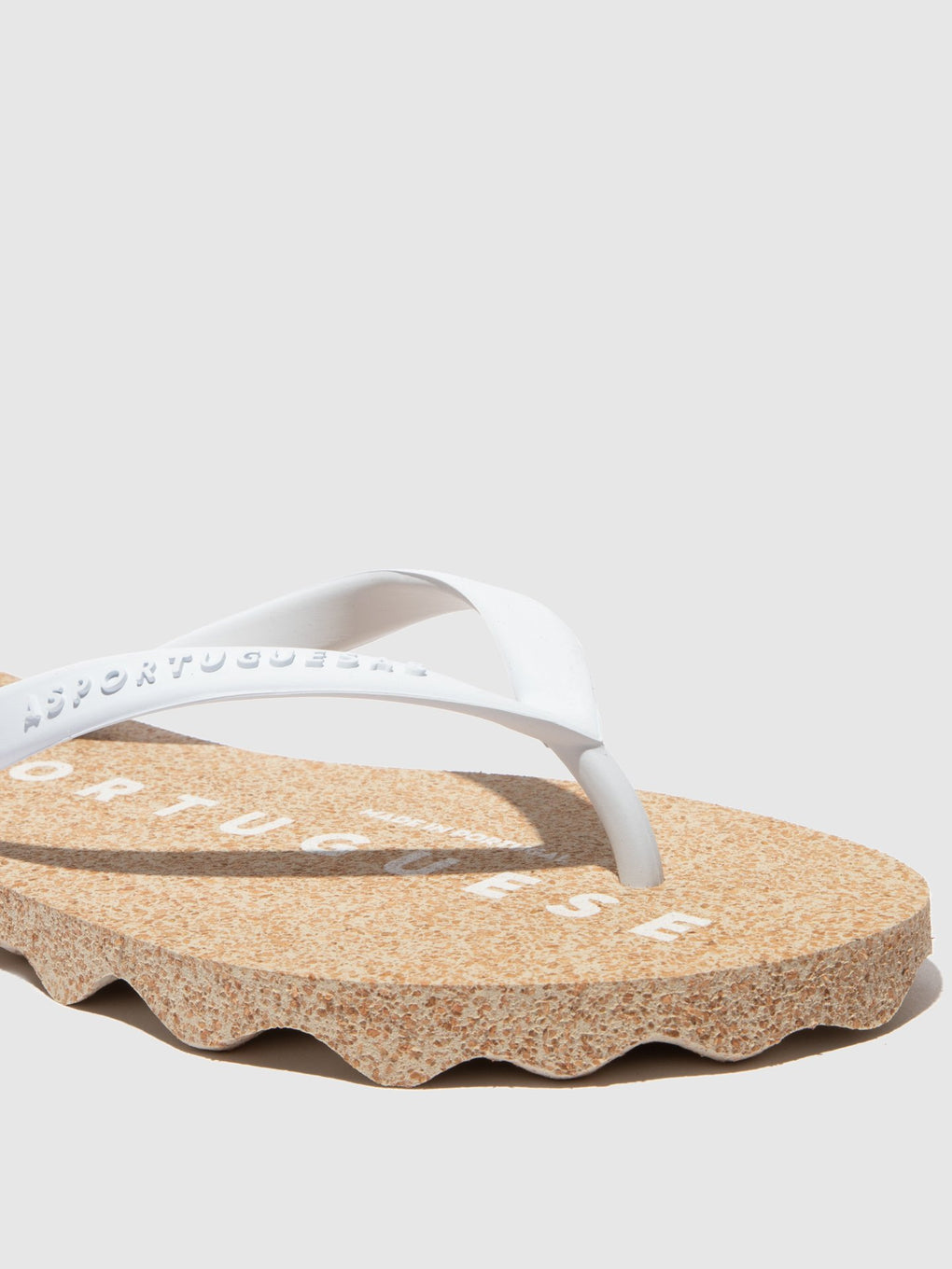 Beach Flip-Flops BASE White Rubber Strap