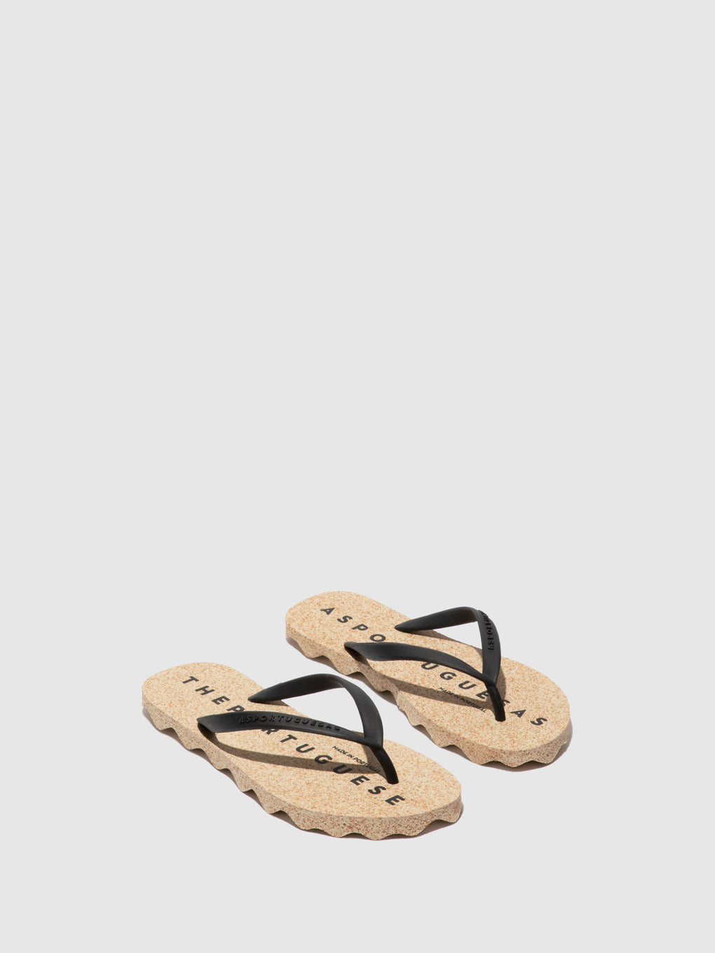 Beach Flip-Flops BASE Black Rubber Strap