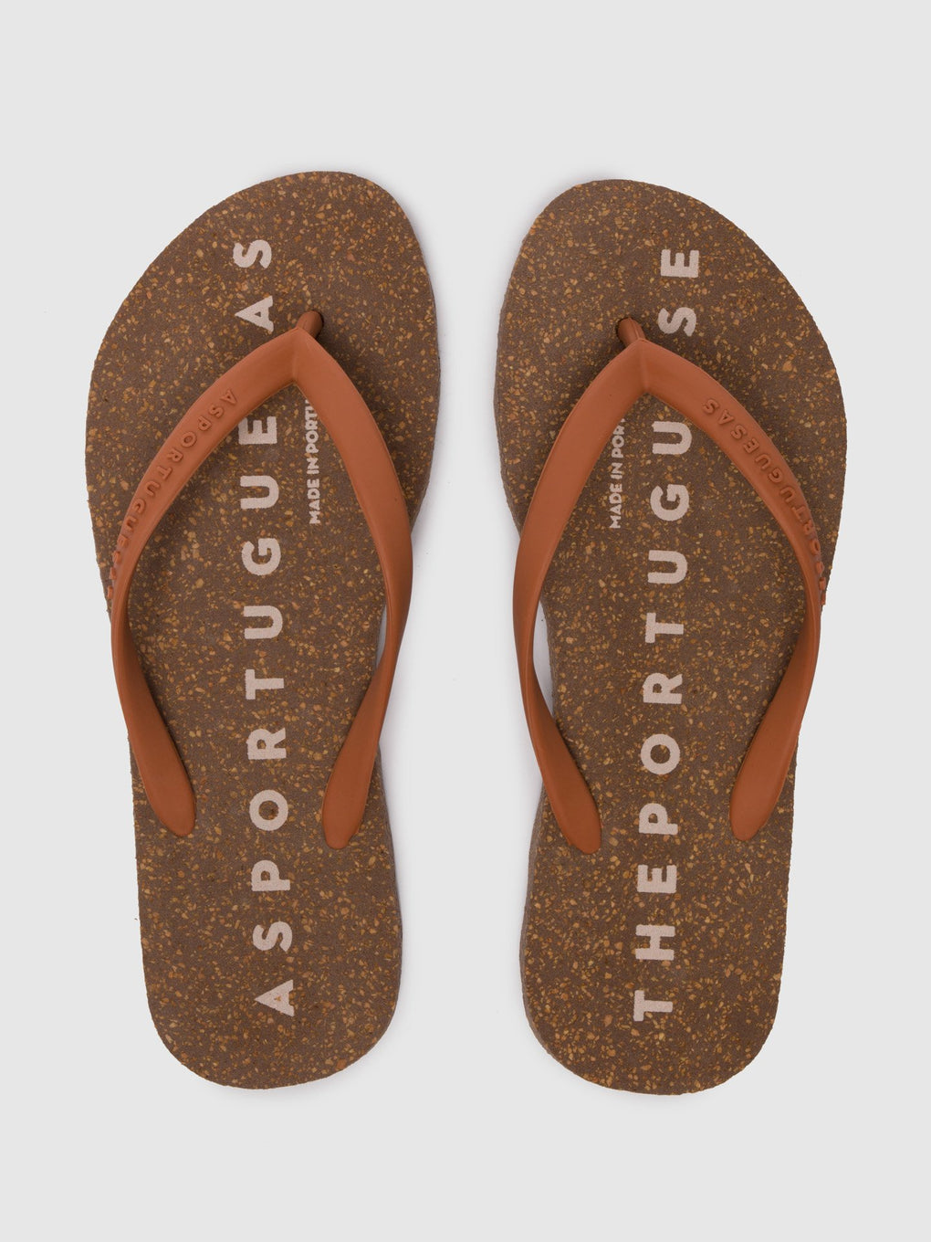 Beach Flip-Flops BASE Brown Rubber Strap