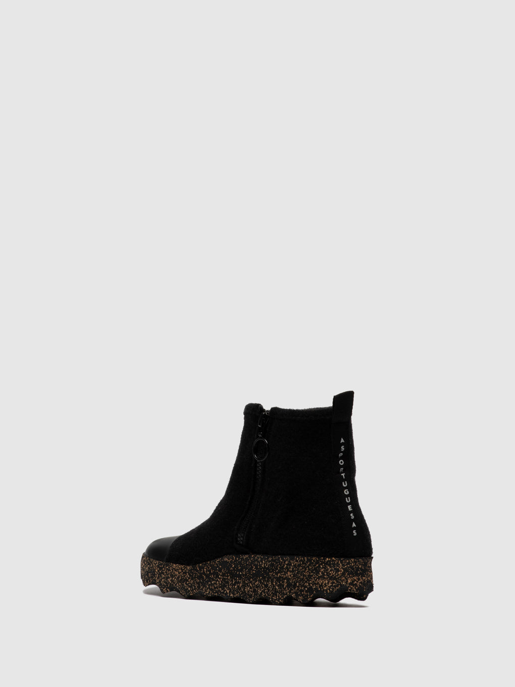 Zip Up Boots COSY Black