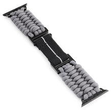 Load image into Gallery viewer, Naimakka Apple Watch Strap - Charcoal Grey (Black PVD)