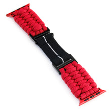 Load image into Gallery viewer, Naimakka Apple Watch Strap - Red (Black PVD)