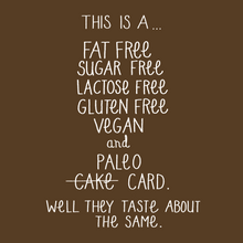 Load image into Gallery viewer, Fat Free, Gluten Free Card