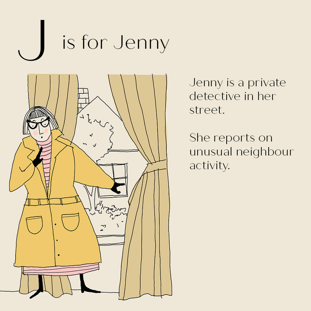 J is for Jenny - Personalised Art Print