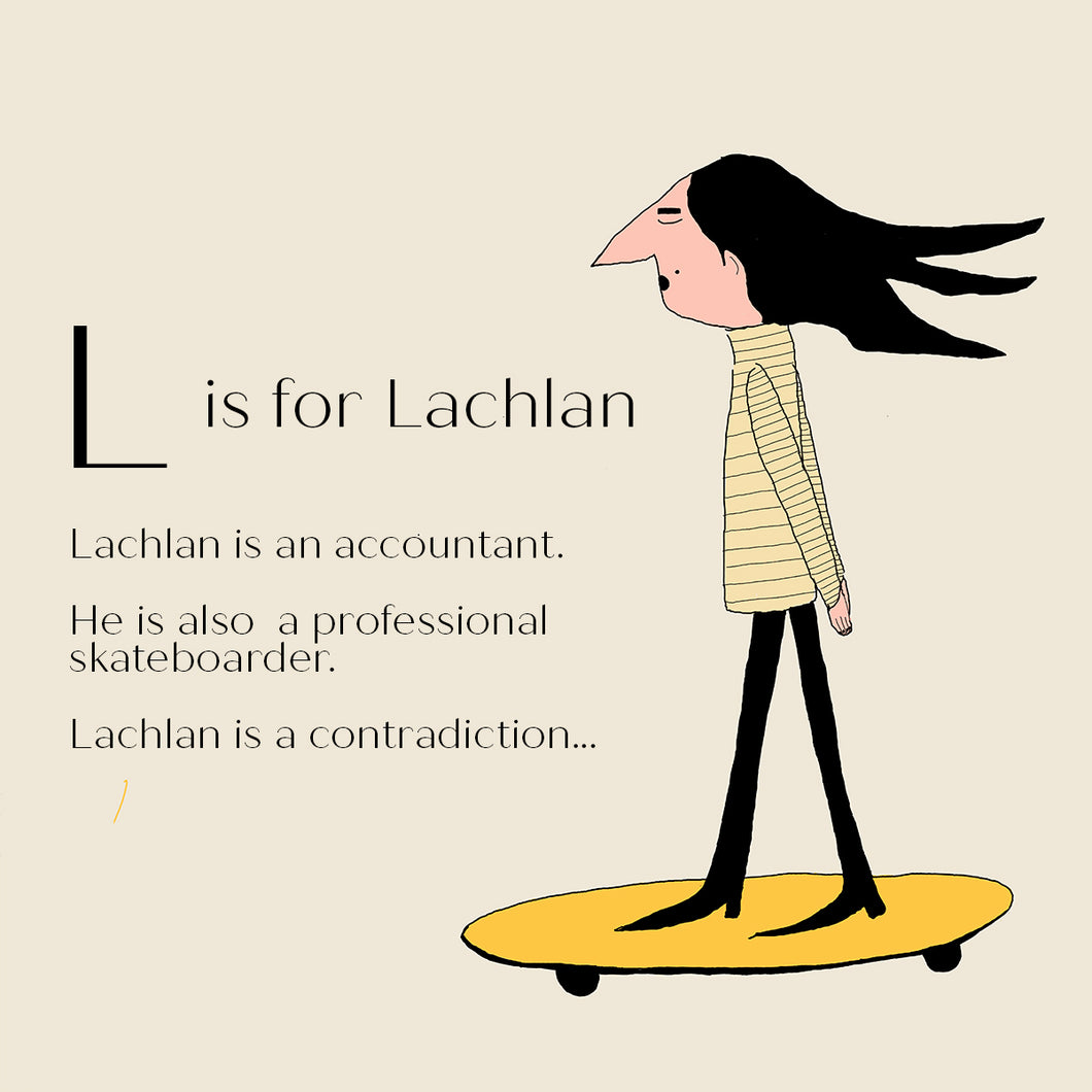 L is for Lachlan - Personalised Fine Art Print