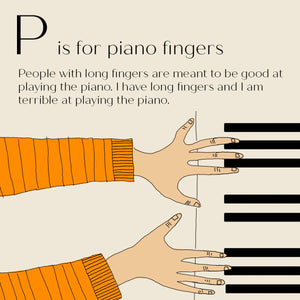 P is for Piano Fingers - High Quality Art Print