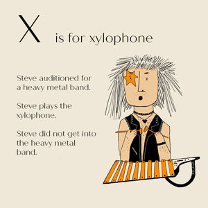 X is for Xylophone - High Quality Art Print