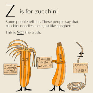 Z is for Zucchini - High Quality Art Print