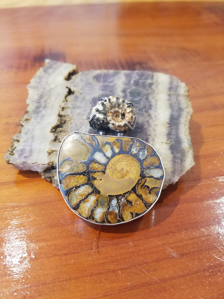Opalized - Double Ammonite Pendant