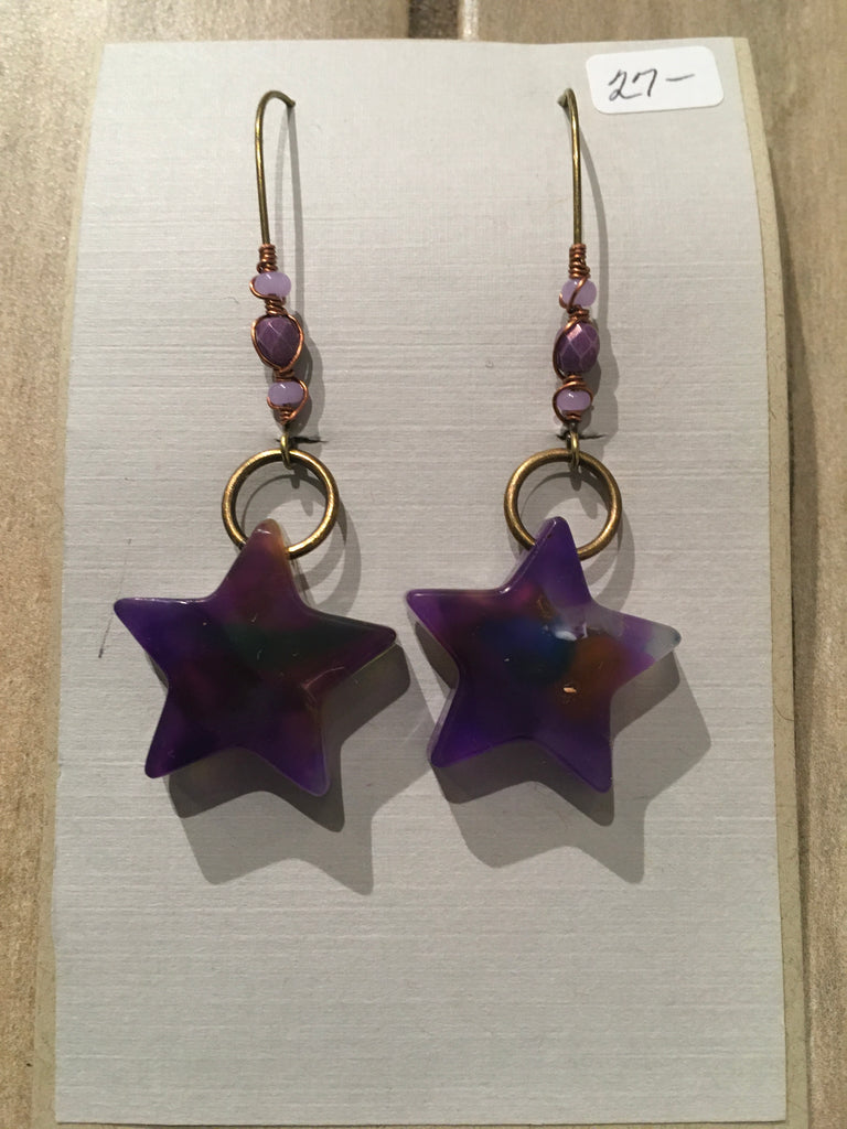 Recycled Star Earring