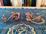 Copper Spiral Bracelet - Small Braided Circe Wave