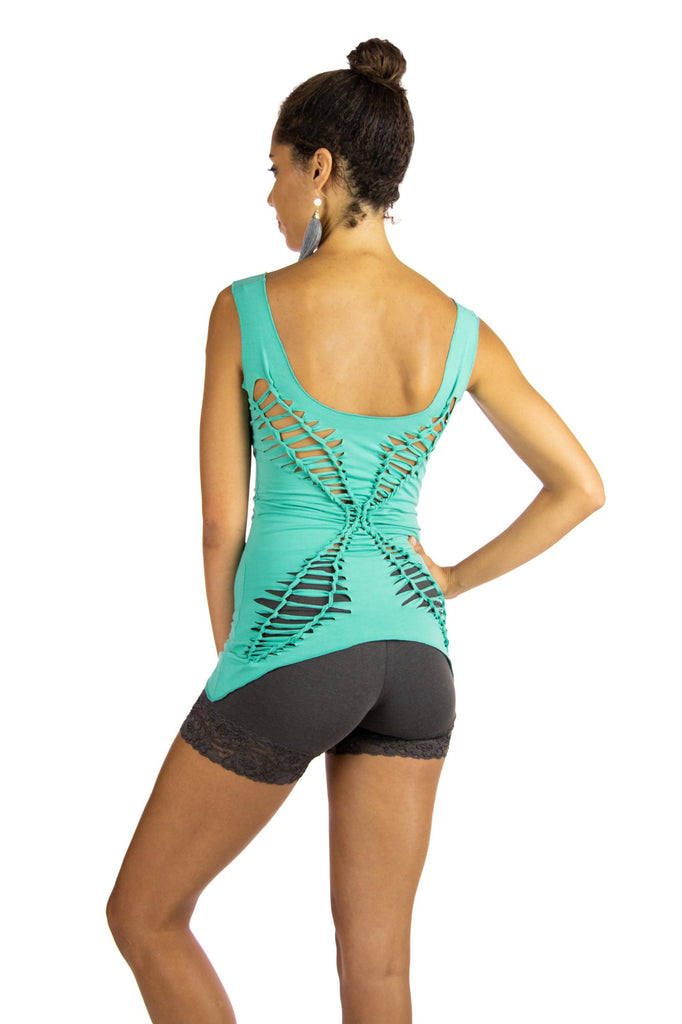 Dragonfly Tank with Butterfly Braided Back