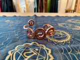 Copper Spiral Bracelet - 3 Circle Braid