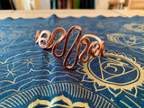 Copper Spiral Bracelet - Waves