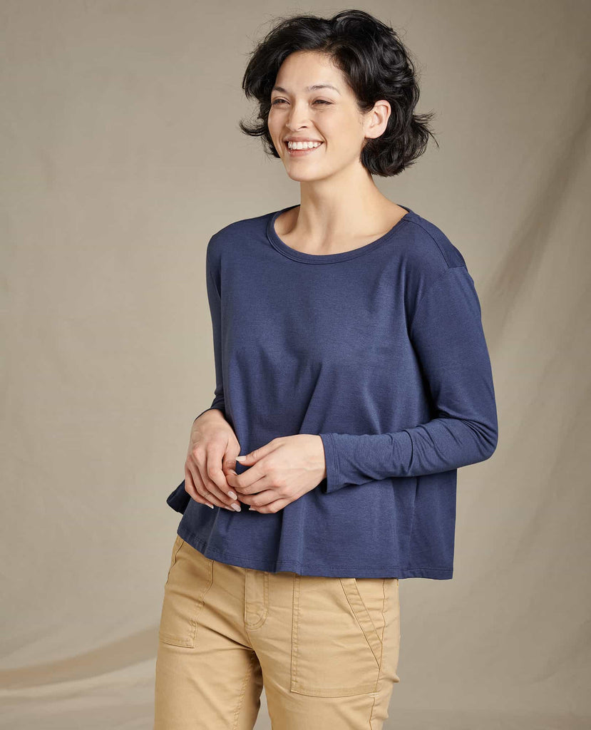 Women's Maisey Long Sleeve Swing Crew