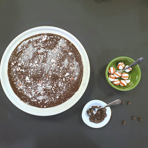 Flourless Chocolate Torte with Peppermint Ganache (Full Torte 8-10 slices)