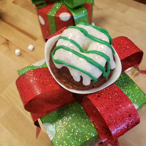 Glistening Gingerbread Bundt with Marshmallow Frosting