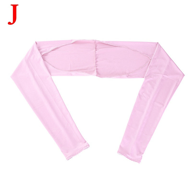 Women Breathable UV Protection Scarf  Sunscreen Sleeves Ice Silk Sunshade Shawl Cuff  Gloves Sweat-absorbing