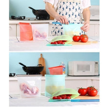 Load image into Gallery viewer, 4 colors/set Reusable Silicone Leakproof Food Preservation Bags Set for Freezer/Sandwich/Snack/Leftovers Microwave & Dishwasher Safe