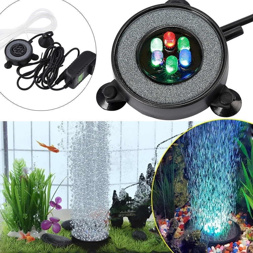 Round Fish Tank Aquarium Lamp Light