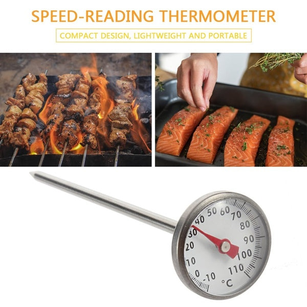 Kitchen Cooking Stainless Steel Quick Response Instant Read Thermometer Meter