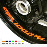 Black 8 X INNER RIM DECALS WHEEL Reflective STICKERS STRIPES For HONDA CBR1000RR