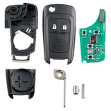 433 MHz ABS 2 Buttons Black Smart Remote Key Fob with ID46 Chip for OPEL VAUXHALL