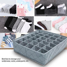 Load image into Gallery viewer, Bamboo Charcoal 30 Grid Bra Underwear Panties Socks Storage Finishing Box