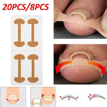Load image into Gallery viewer, 20pcs/8pcs Health Care Professional Toe Nail Care Pedicure Tools Ingrown Toenail Foot Corrector Stickers Toe Nail Repair Paronychia Treatment