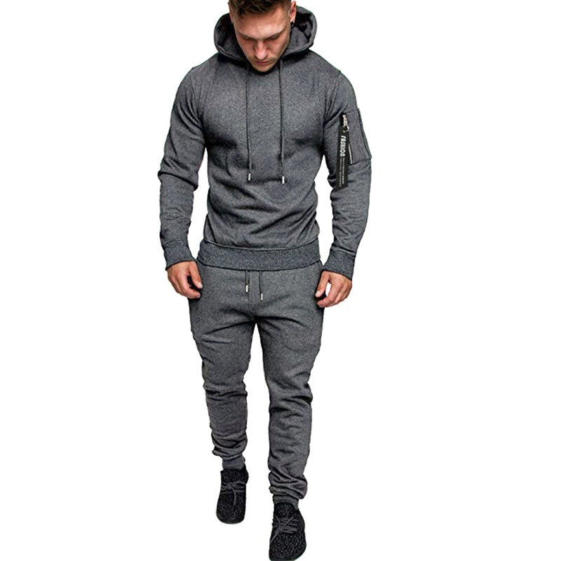 Sports Set Men's Autumn and Winter Sports Set Camouflage Sportswear Men's Hoodies Sweatpants Men's Tactical Suit
