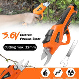 3.6V Electric Pruning Shear Rechargeable Home Garden Scissors Cordless Secateur Fruit Tree Branches Cutter