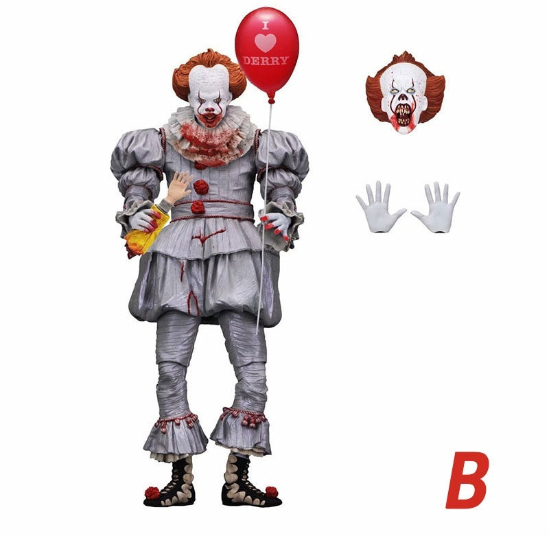 New Original NECA Stephen King's It Pennywise Action Figure Collection Toy Doll 18cm/7 Inch Collectible Toys(2 Styles)