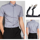 Adjustable 1 Pair Mens Stays Holders Elastic Shirt Garter Non-Slip  7 Styles for Optional