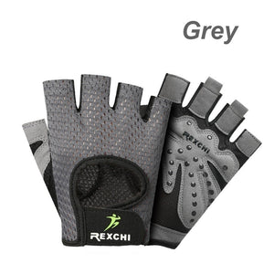 Men Women Fashion Gym Fitness Gloves Half Finger Breathable Weightlifting Glove Anti-Slip Cycling Gloves