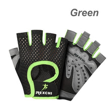 Load image into Gallery viewer, Men Women Fashion Gym Fitness Gloves Half Finger Breathable Weightlifting Glove Anti-Slip Cycling Gloves