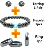 1 Set Magnetic Slimming Earrings Ring Bracelet Lose Weight Health Magnet Jewelry Slimming Accessories