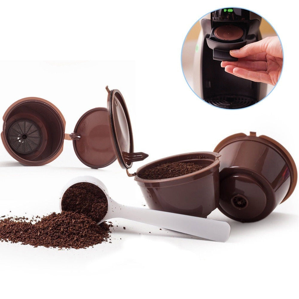 5PCS/Pack Coffee Machine Reusable Capsule Coffee Cup Filter Coffee Cup Holder Pod Strainer